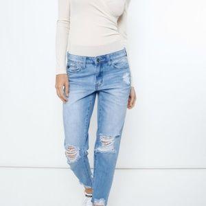 Kan Can Faded Wash Boyfriend Jeans